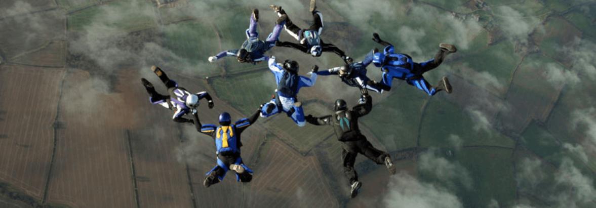Teamsport Fallschirmspringen