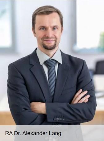 Rechtsanwalt für Schmerzensgeld und Schadensersatz Dr. Alexander Lang
