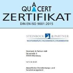 Rechtsanwaltskanzlei Zertifikat